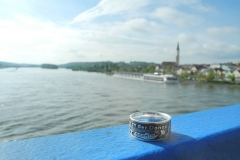 Vilshofen-Ring Stadtansicht vom Fluss