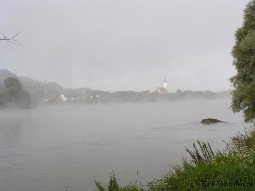 Donauradweg am frühen Morgen, Pleinting