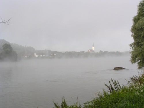 Morgenstimmung am Donauradweg
